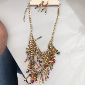 Jewelry - Rainbow bead necklace